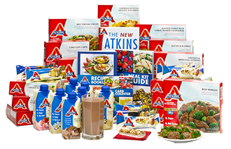Atkins Shakes, Frozen Meals and other products