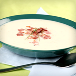 Blue Cheese and Bacon Soup