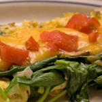 cheese and spinach omelet