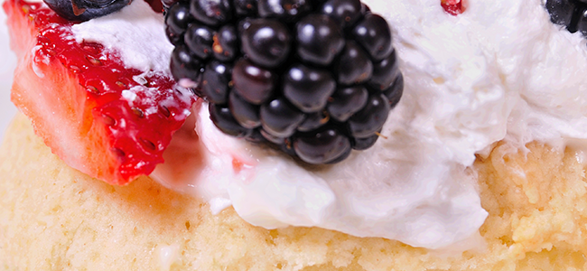 Coconut Shortcake with Berries and Cream Recipe