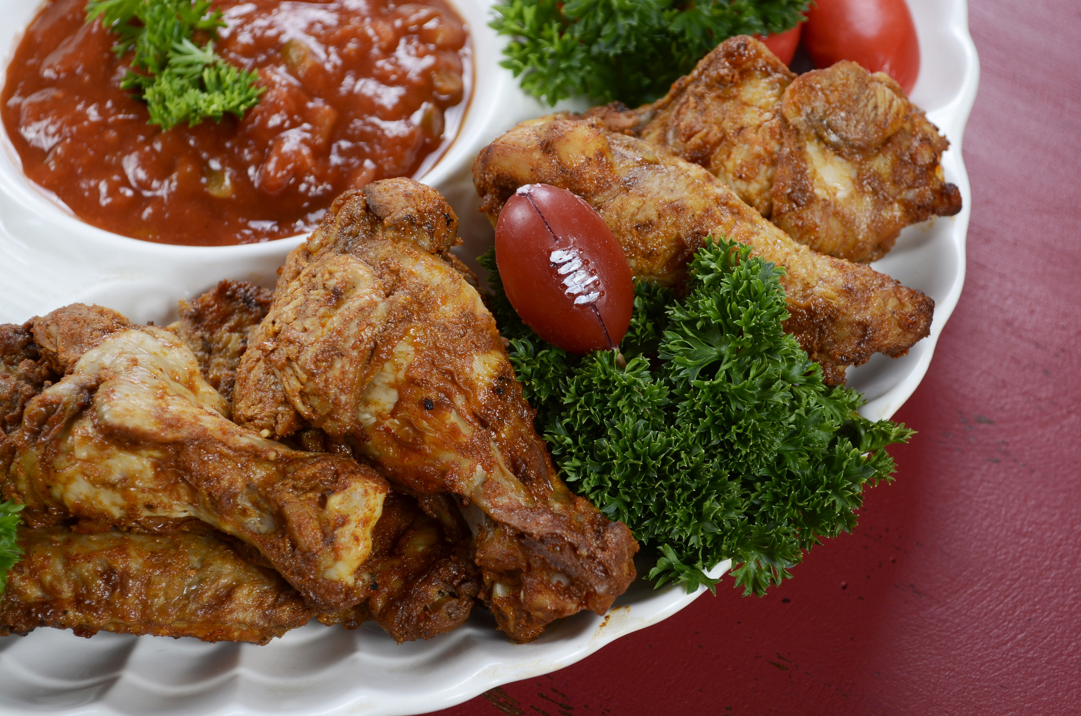 Low Carb Chicken Wings At Football Party