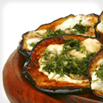 grilled eggplant with cheese