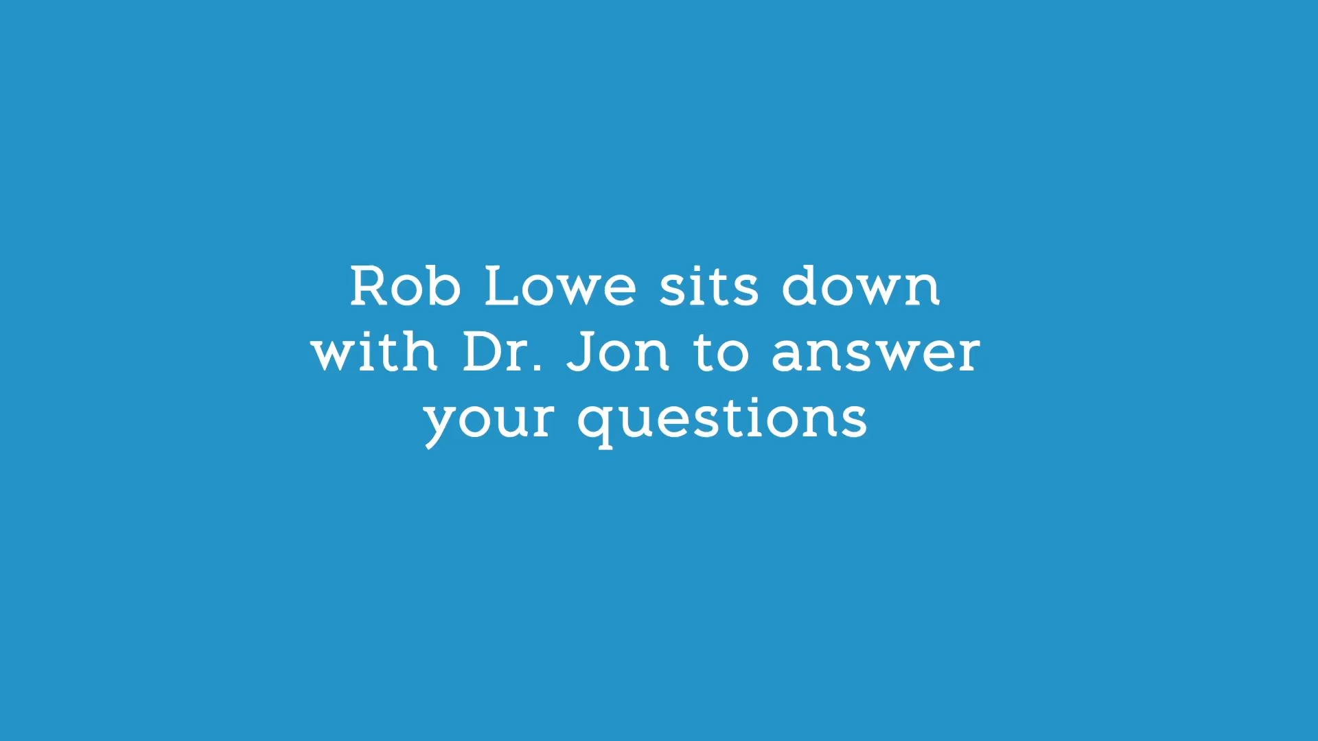 Atkins Rob Lowe Q&A Part 1