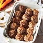 Keto baked meatballs