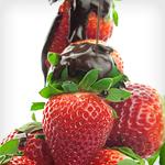 Berries With Chocolate Ganache