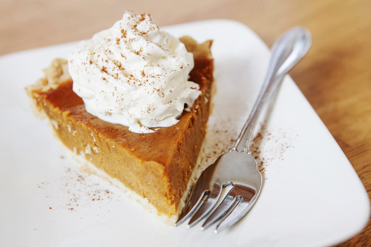 A piece of pumpkin pie