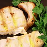 Keto mediterranean swordfish steaks garnished with parsley