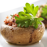 Photo of Mushrooms Stuffed with Sausage and Mozzarella