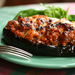 Warm and hearty stuffed eggplant