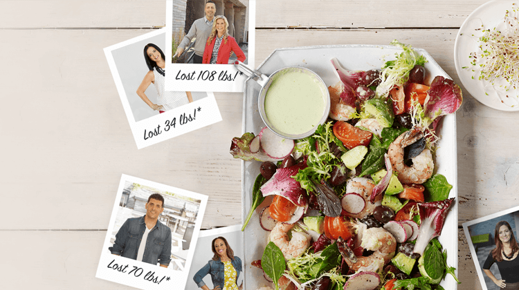 Atkins weight loss diet success photos and a low carb salad