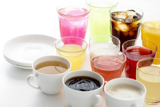 an array of soft drinks