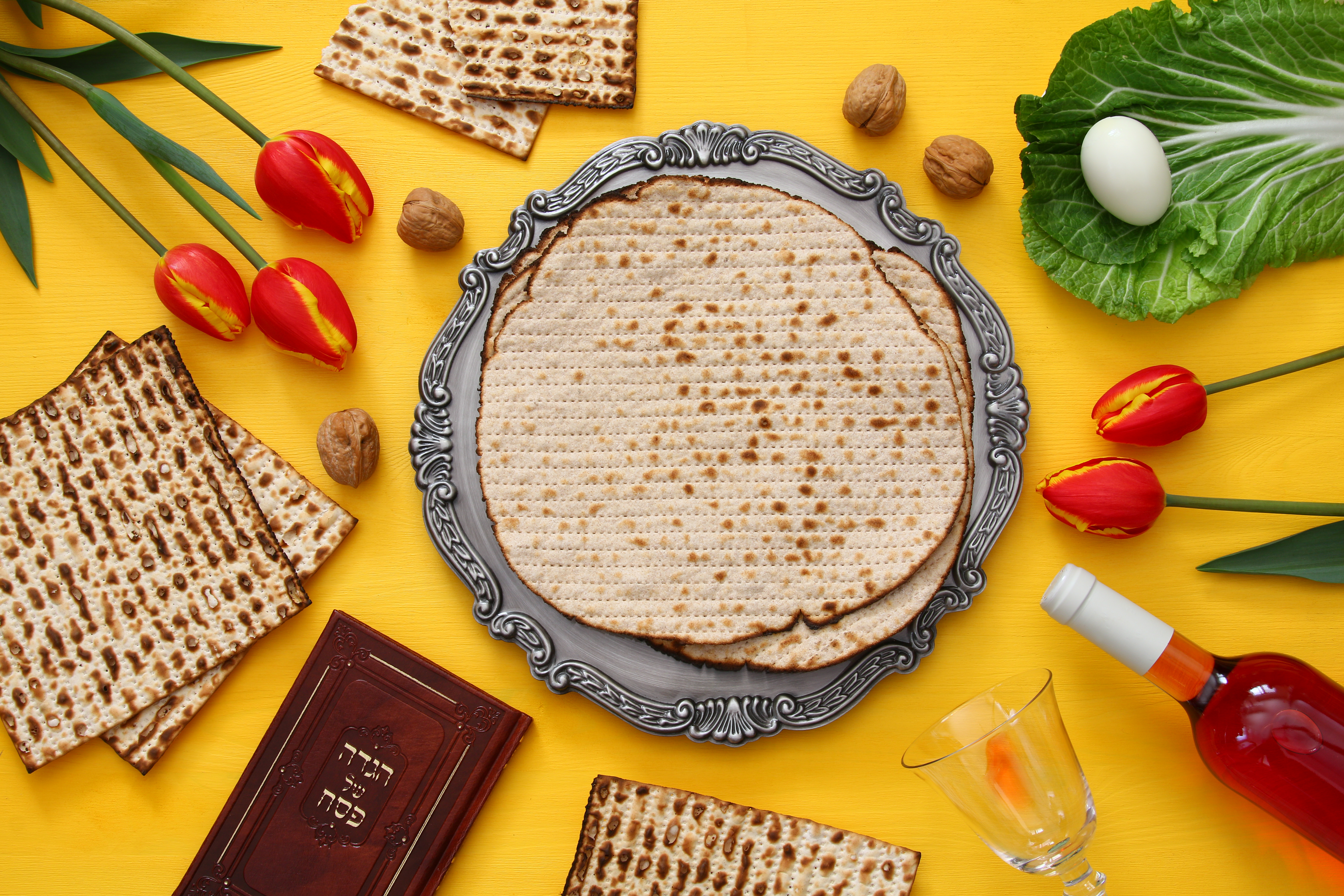 Image of various Passover foods